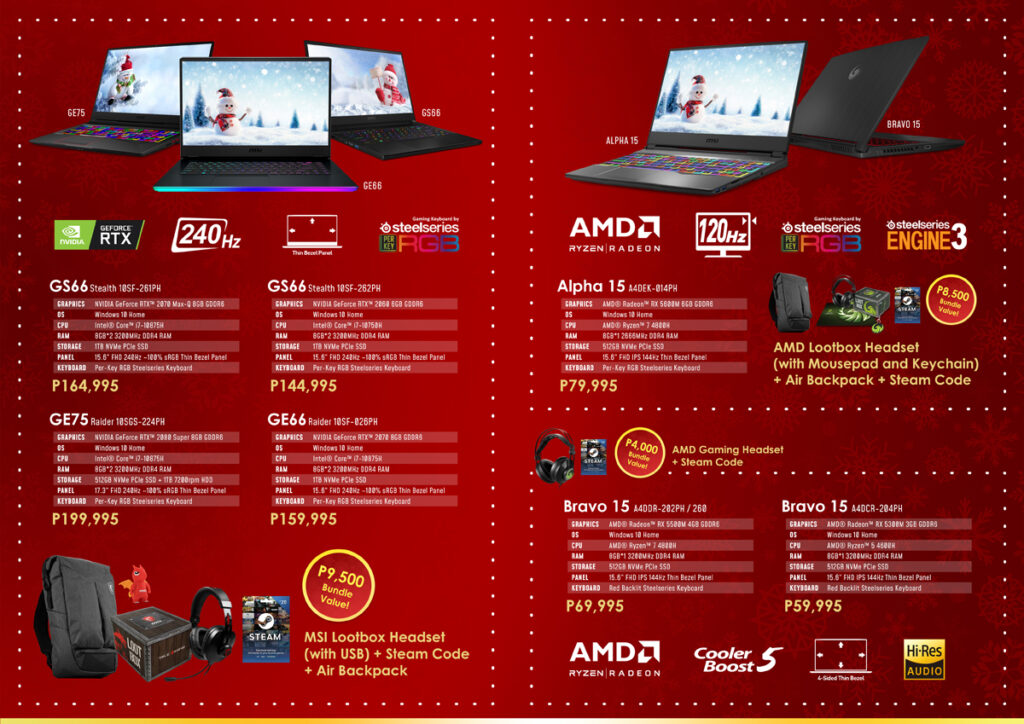 Deck Your Workstation with Brand New Gears with MSI's Christmas Treats
