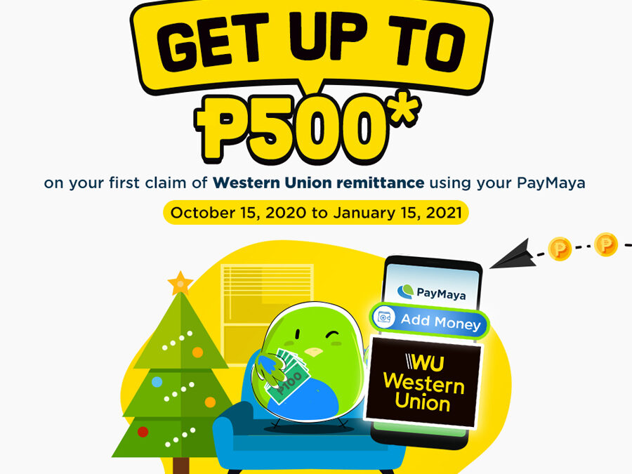 Get up to P500 cashback when you claim your Western Union remittance via PayMaya for the first time!