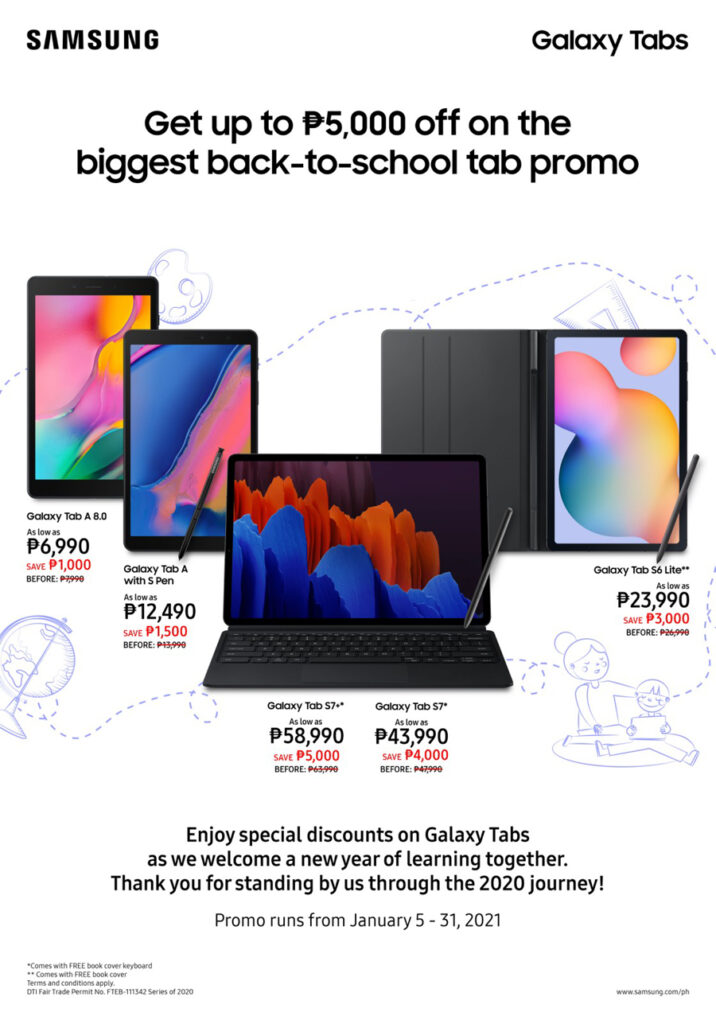 The biggest Back-to-School promo from Samsung: Get up to P5,000 off on select Galaxy Tabs