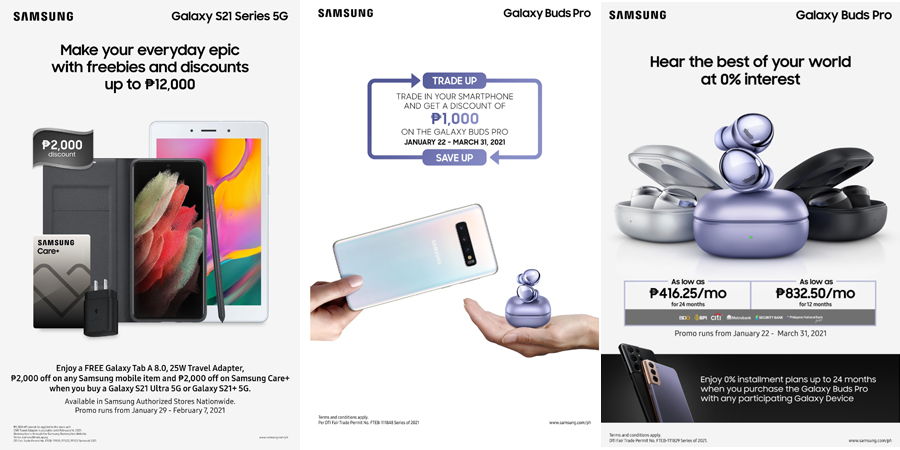 Create EPIC experiences with the new SAMSUNG Galaxy S21 Series 5G and Galaxy Buds Pro, now available in PH stores!