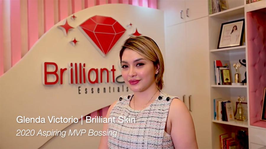 Aspiring MVP Bossing Glenda Victorio of Brilliant Skin Essentials rises from crisis and thrives