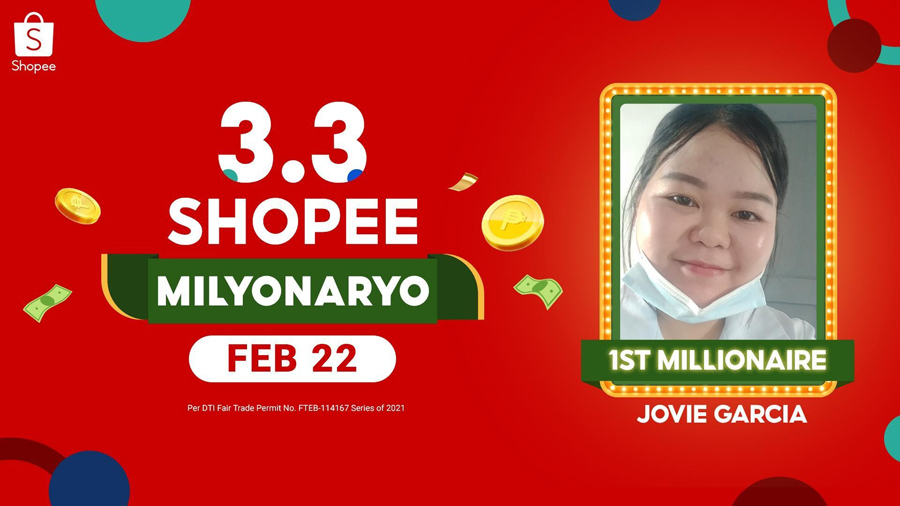 Be the Next 3.3 Shopee Milyonaryo and Join Our First Lucky Jackpot Prize Winner from General Santos City