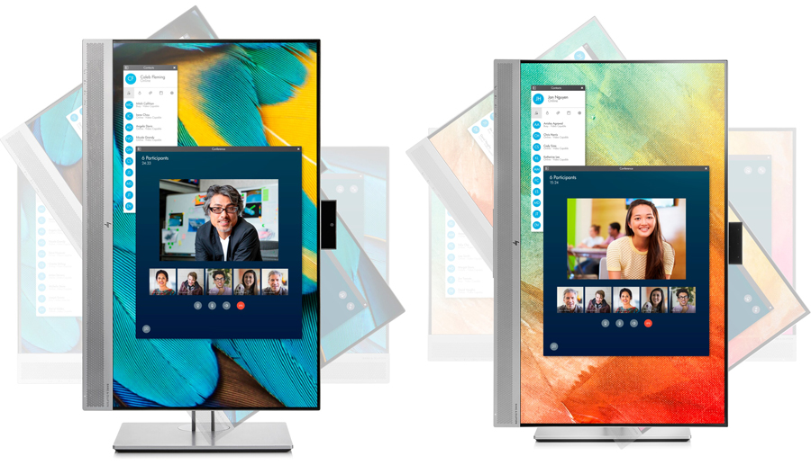 HP Display Monitors — whether for conferencing or docking, the right tools for working from home