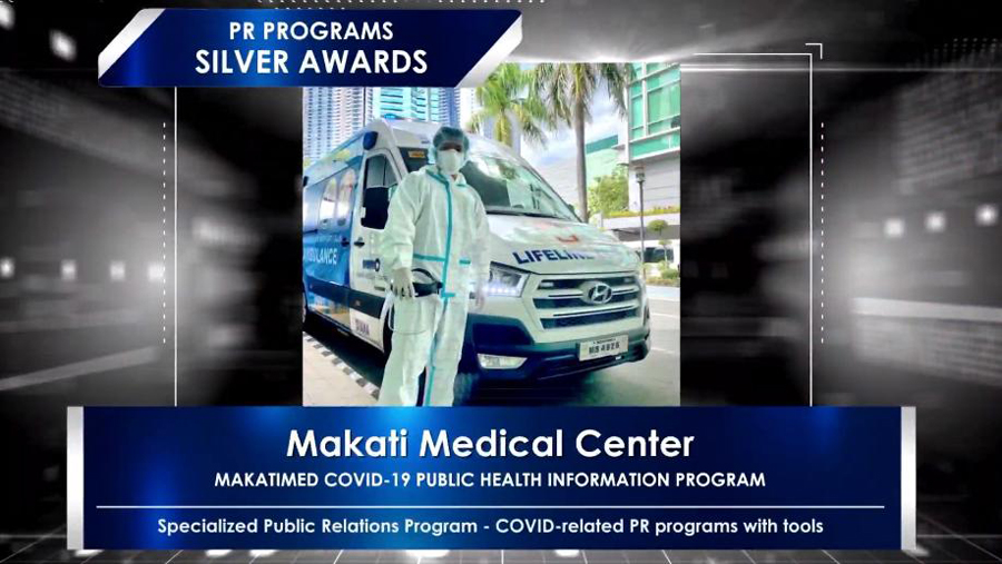 MakatiMed wins at the Anvil Awards for its COVID-19 Public Health Information Program