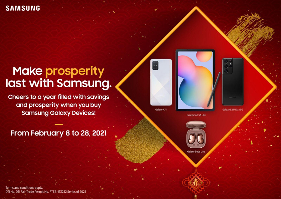 Make Prosperity and Love last with SAMSUNG's Chinese New Year and Valentine's Day Promos