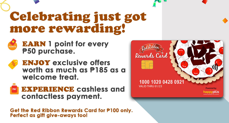 Welcome the NEW Red Ribbon Rewards Card
