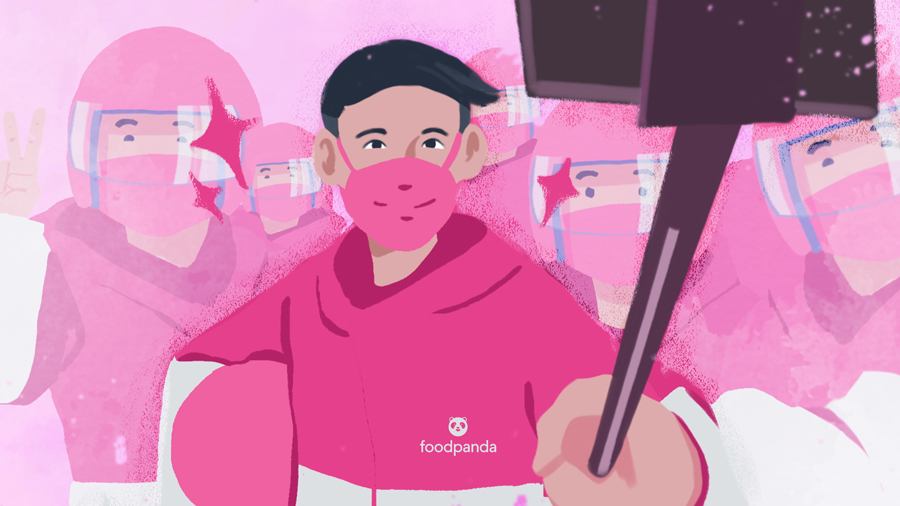 LOOK: foodpanda surprises delivery partners around the Philippines