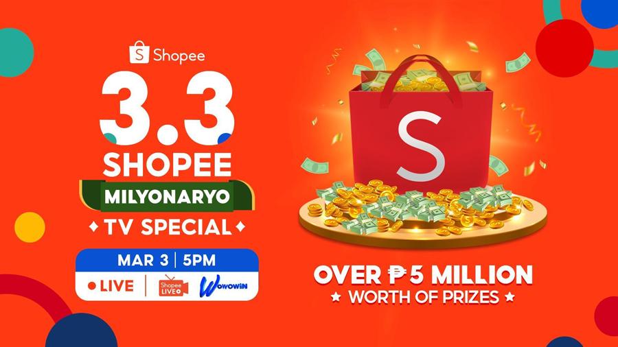 Celebrate Shopee 3.3 Mega Shopping Day with Shopee's Newest Brand Ambassador, Willie Revillame, on GMA 7's Tutok to Win