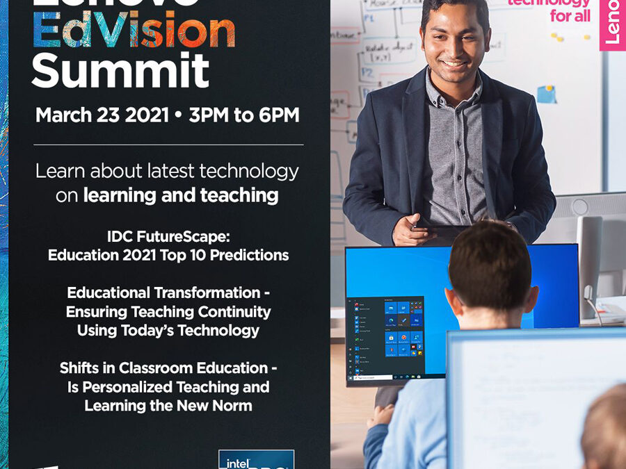 Lenovo tackles blended learning challenges, future of education at upcoming virtual EdVision Summit
