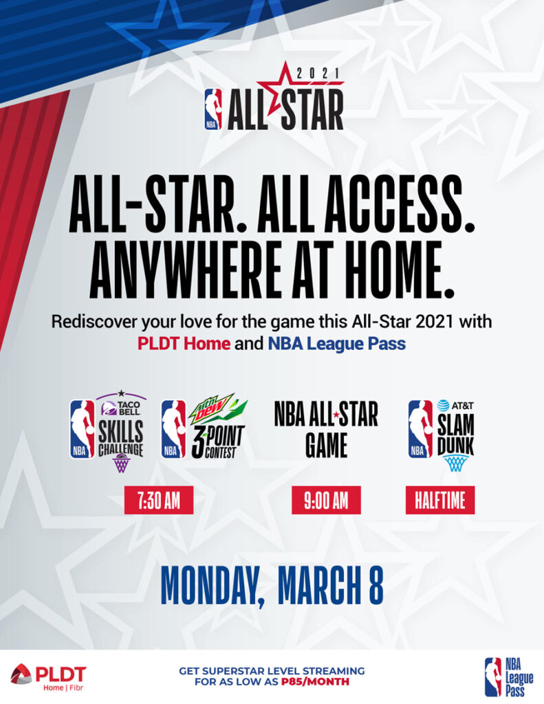 Catch NBA All-Star 2021 with your NBA League Pass from PLDT Home Fibr