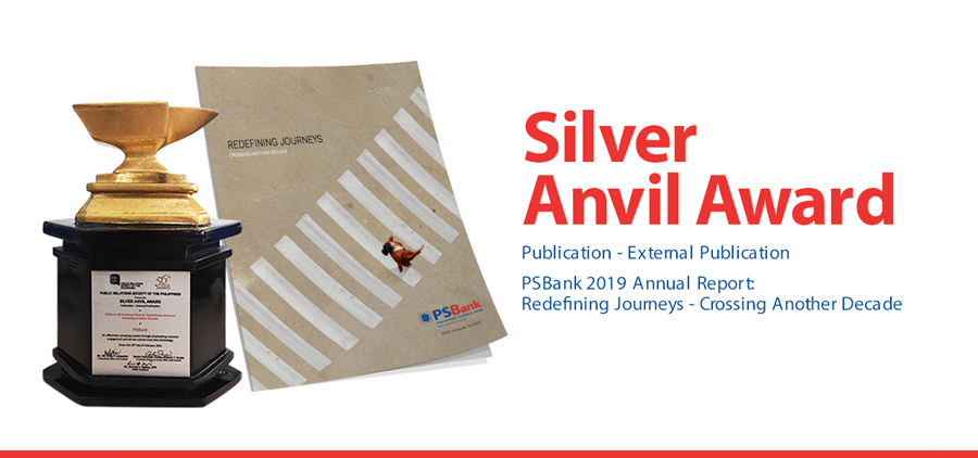 PSBank Annual Report Bags Silver Anvil Award