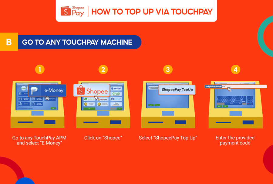 Top Up Your ShopeePay Wallet Anytime at Over 600 TouchPay Locations Near You