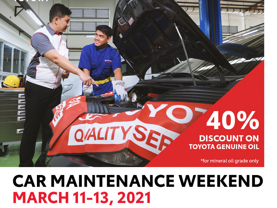 Toyota announces Car Maintenance Weekend this March 2021