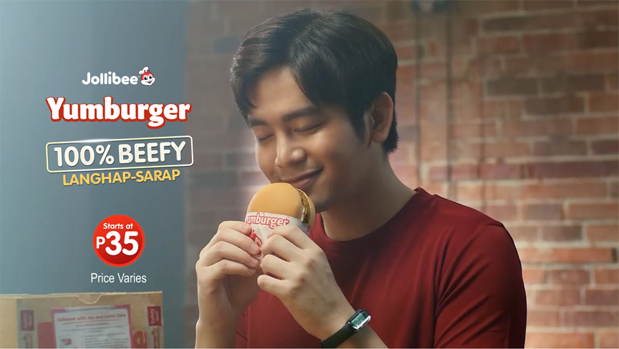 Joshua Garcia stars in beefy new Jollibee Yumburger commercial