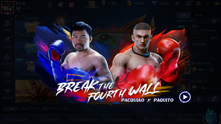Mobile Legends: Bang Bang transforms Manny Pacquiao into a legendary in-game hero skin