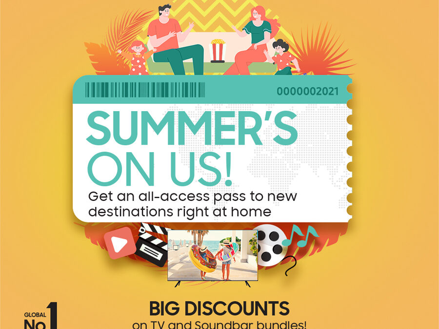 Summer's on Us: Escape with Samsung's TV and Soundbar bundles