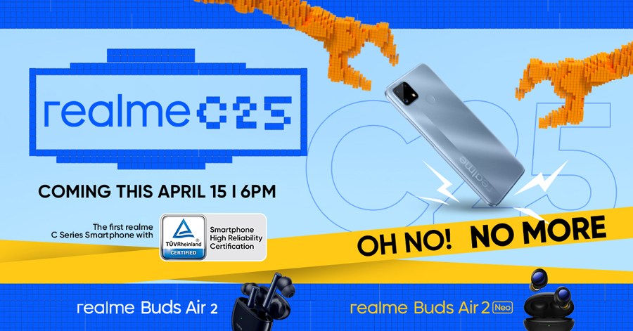 realme launches realme C25 on April 15, offers a new standard of reliability for everyday challenges