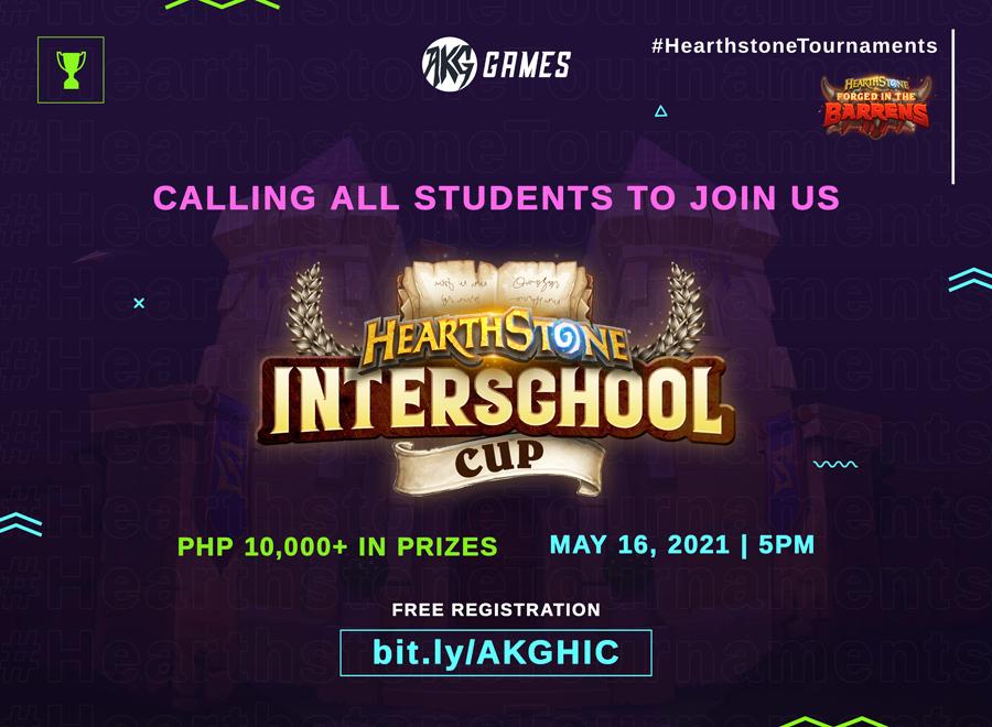 AKG Games presents Philippine's first Hearthstone™ Interschool Cup!