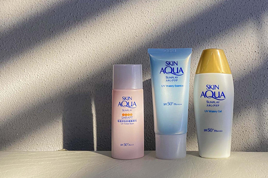 Protect your skin from harmful UV rays with Sunplay Skin Aqua sunscreen
