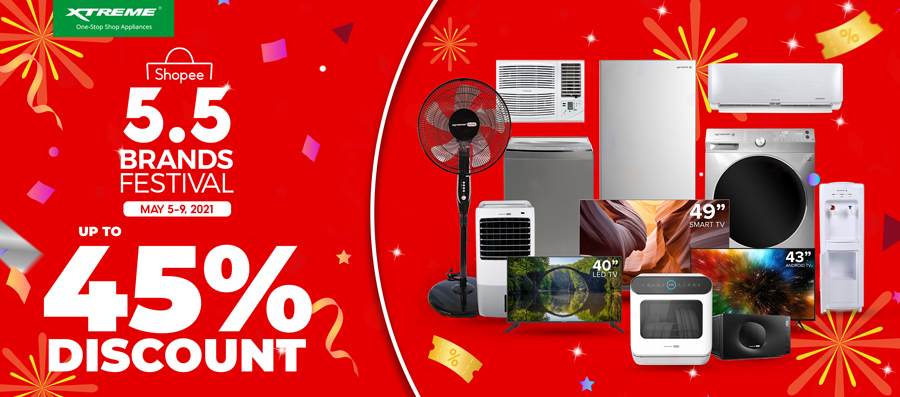 Up to 45% Discount on XTREME Appliances this Shopee 5.5 Brands Festival sale