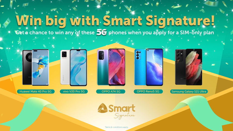 Get a chance to win 5G smartphones with Smart Signature Plans