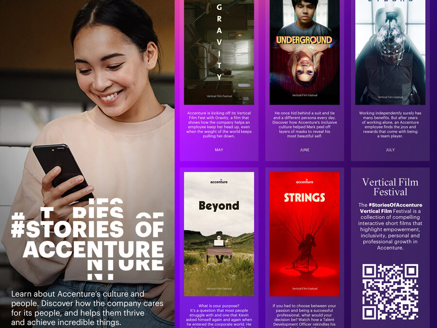 Accenture Philippines' Stories of Accenture Campaign highlights commitment to people; showcase employee stories in a virtual vertical film festival