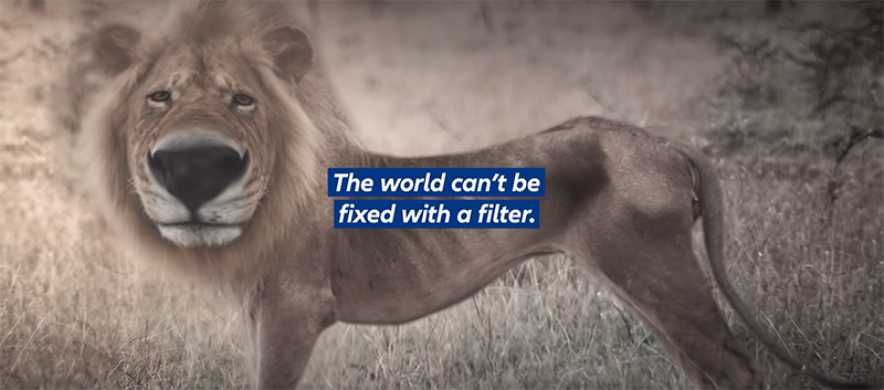 Allianz PNB Life features world overrun with filters in latest digital ad