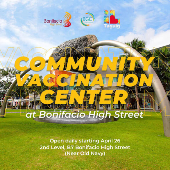 Over 14,000 Taguig Citizens inoculated in the Bonifacio High Street Community Vaccination Center
