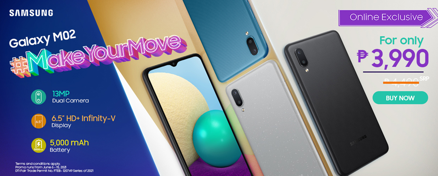 The new SAMSUNG Galaxy M12 and M02 are now available!