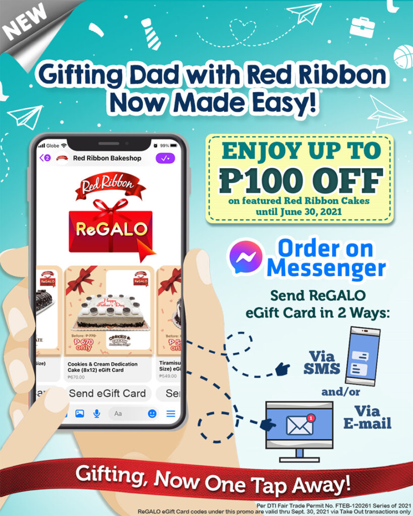 Father's Day celebration & gifting is now made easy with the New Red Ribbon Online Store and ReGALO e-Gift Card