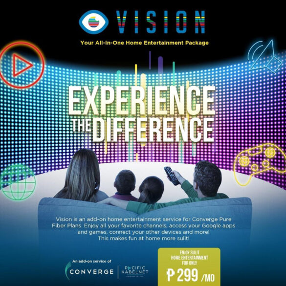 Converge launches all-in-one home entertainment service with the VISION