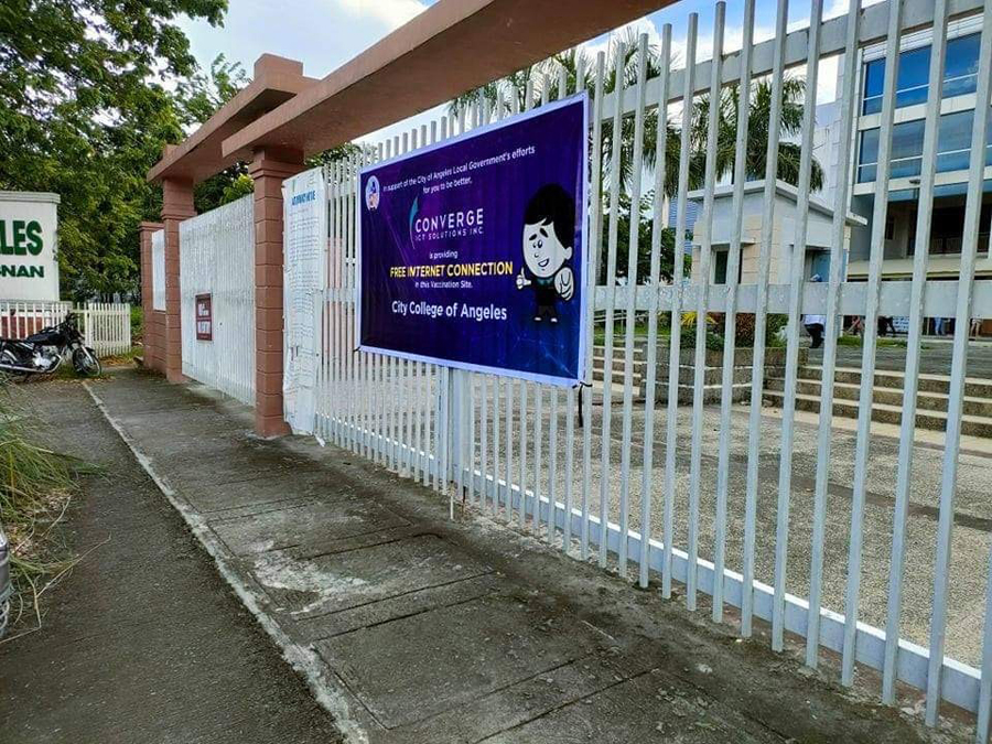 Converge powers up Angeles City's vaccination sites