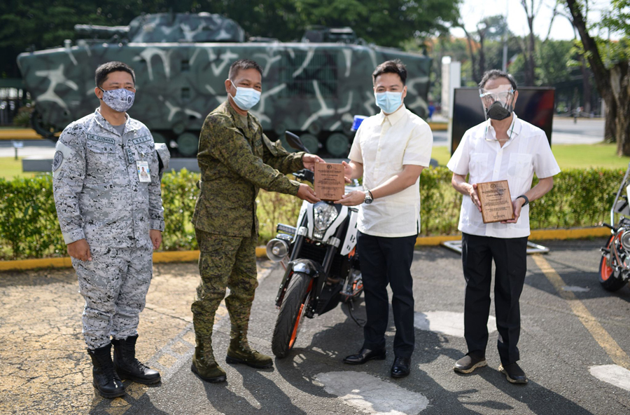 Delbros Group donates 12 new KTM motorcycles to the PNP and AFP