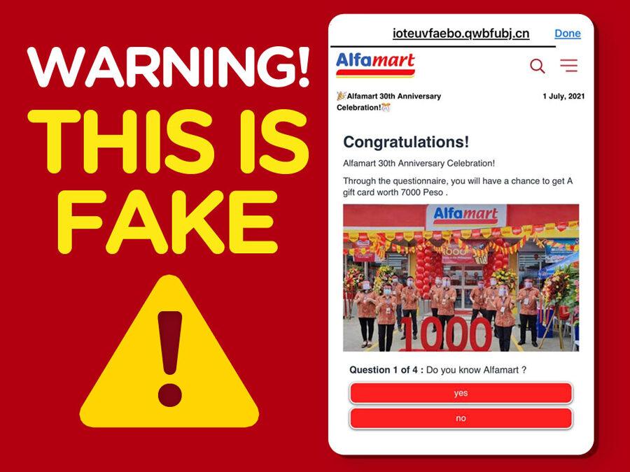Alfamart Warns Consumers Against Survey Scam