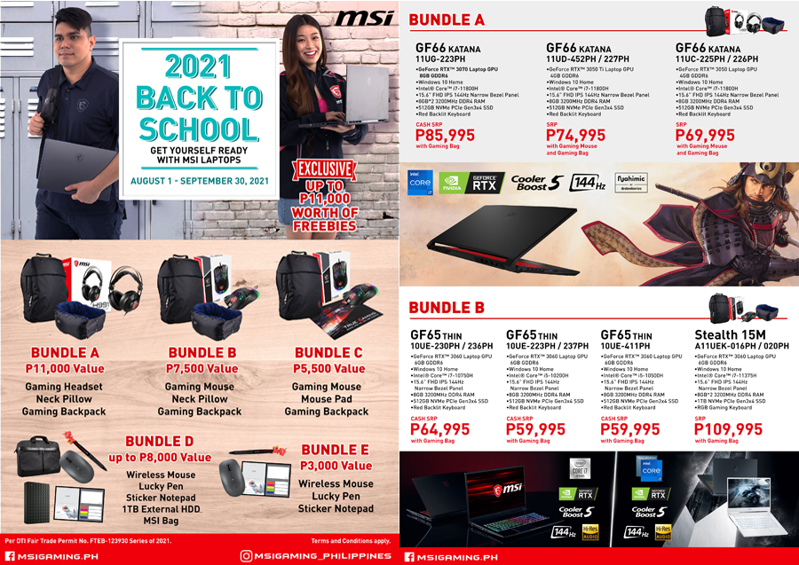 Gear up with MSI's Back to School Promo