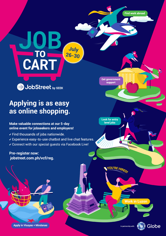 """JobStreet reveals workforce's view on upskilling, launches """"Job To Cart"""" event for easier job seeking amidst recovery"""