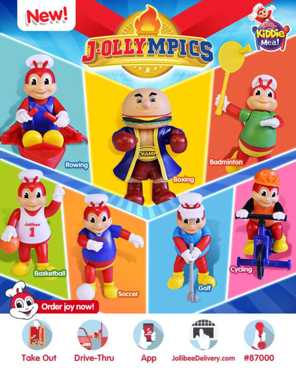 The new 'J-ollympics' Kiddie Meal toys lets kids play fun sports with Jollibee and Champ