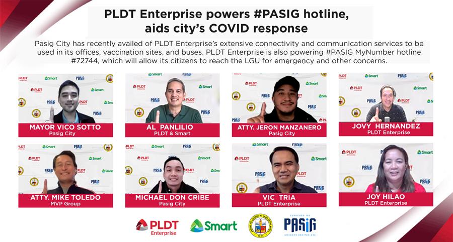 PLDT Enterprise powers #PASIG hotline, aids city's COVID response