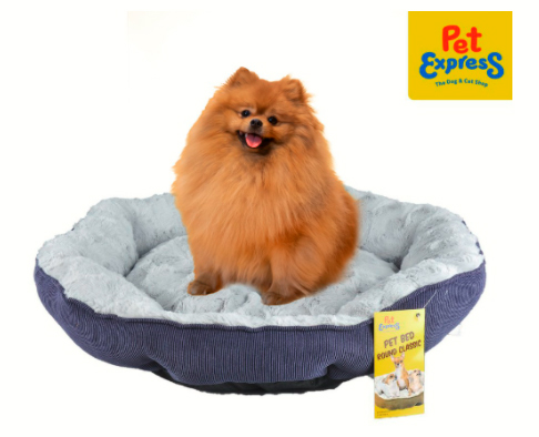 Buy the Pet Bed Round Classic Large Blue 60x58x15cm on Shopee for P559 (20% off from the P699 SRP).