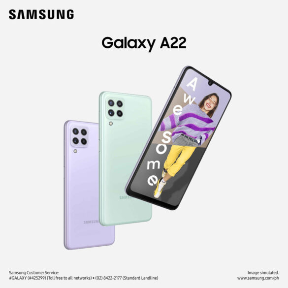 Power up to achieve those awesome goals with the new SAMSUNG Galaxy A22, now available