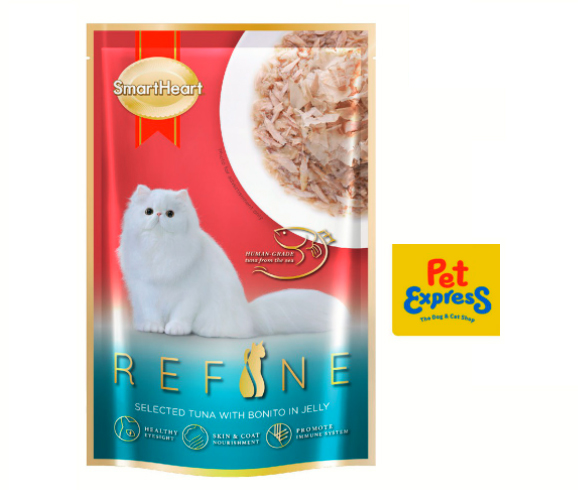 Buy SmartHeart Refine Cat Pouch Adult Tuna With Bonito In Jelly 70g (12 pouches) for P423 (10% off on the P468 SRP).