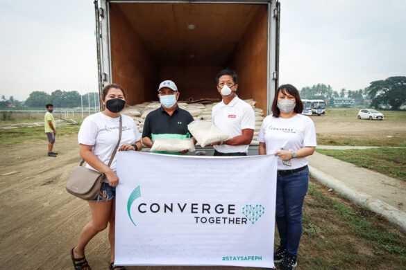 Converge provides food, connectivity to Taal evacuees