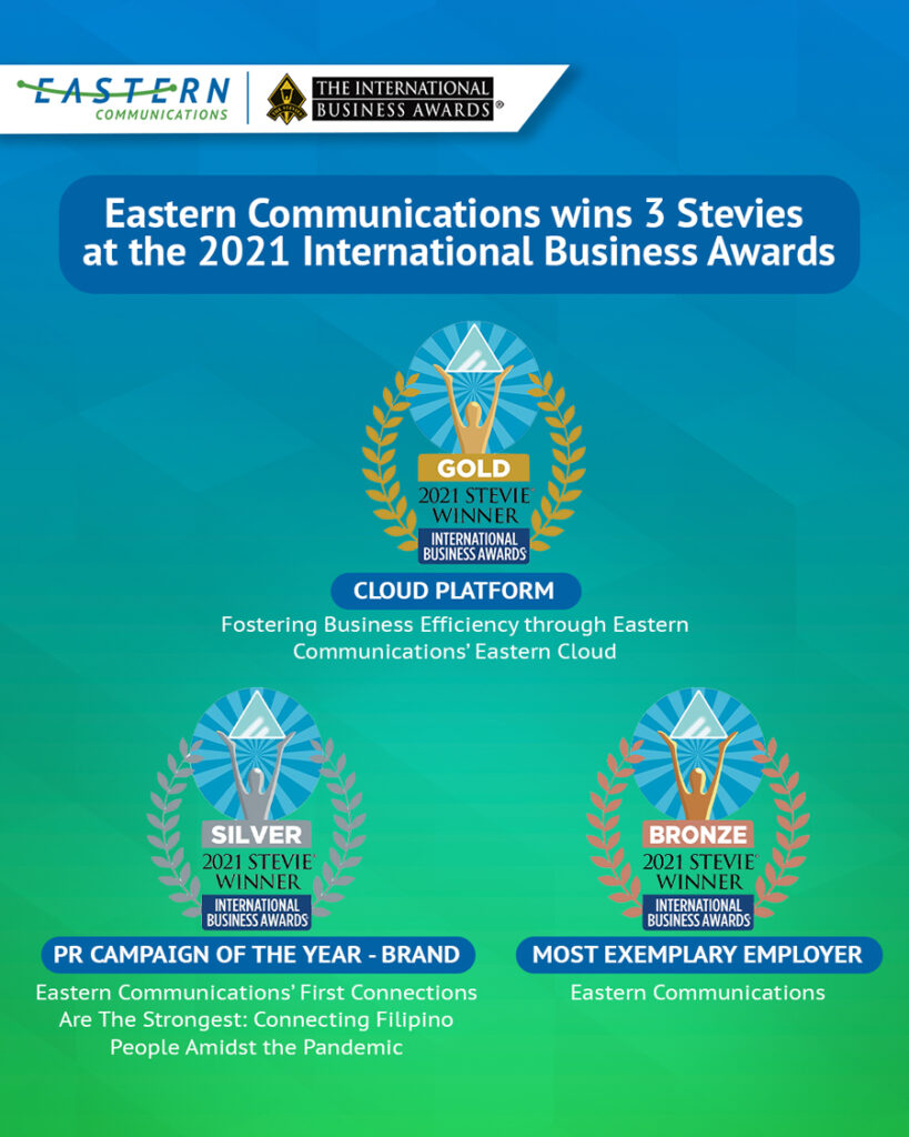Eastern Communications bags 3 Stevie Awards at the 2021 International Business Awards