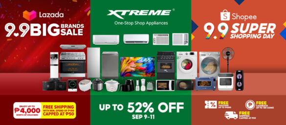 Welcome 'ber months' with up to 52% discount on XTREME Appliances this Lazada & Shopee 9.9 Sale