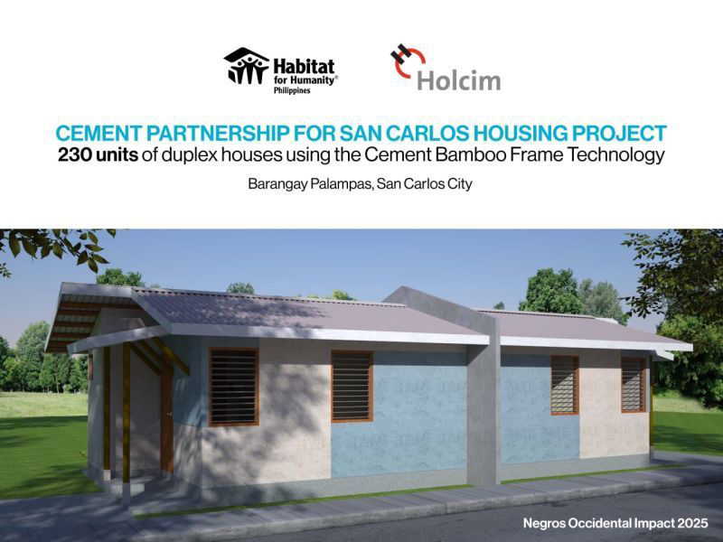 Habitat Philippines, Holcim Philippines cement partnership for socialized housing projects
