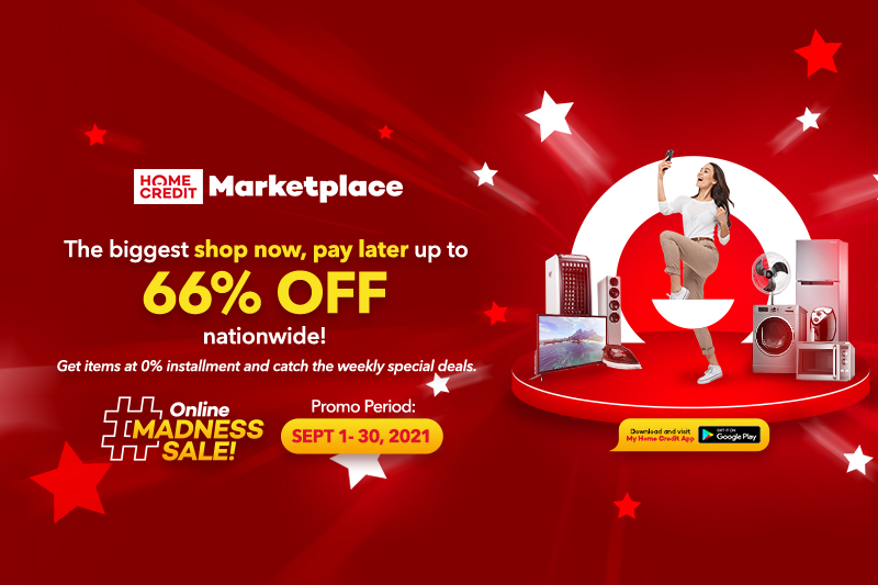 """Get the best """"Shop Now, Pay Later"""" deals with Home Credit Marketplace Online Madness Sale"""