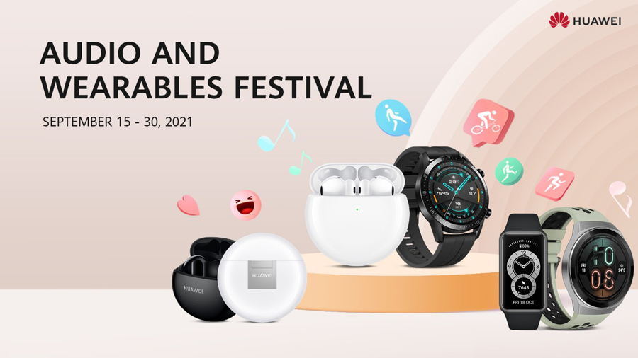 HUAWEI Celebrates Audio and Wearables Festival, Discounts Go as High as 50%
