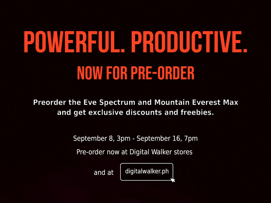 Pre-order the Eve Spectrum and Mountain Everest Max and get exclusive discounts and freebies