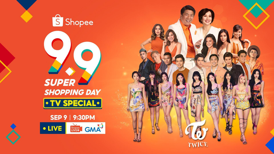 Shopee Presents an Action-Packed 9.9 Super Shopping Day TV Special with K-Pop Stars TWICE and Prizes Worth up to ₱11 Million