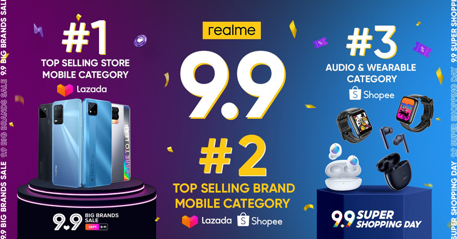 realme Philippines Official Store emerges as no. 1 top-selling mobile store during 9.9 Big Brands Sale